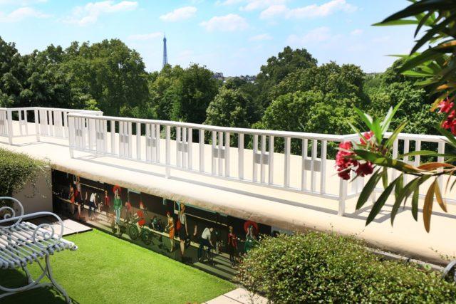 Exemple de terrasse réalisée à Paris